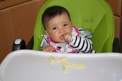 baby led weaning - pasta