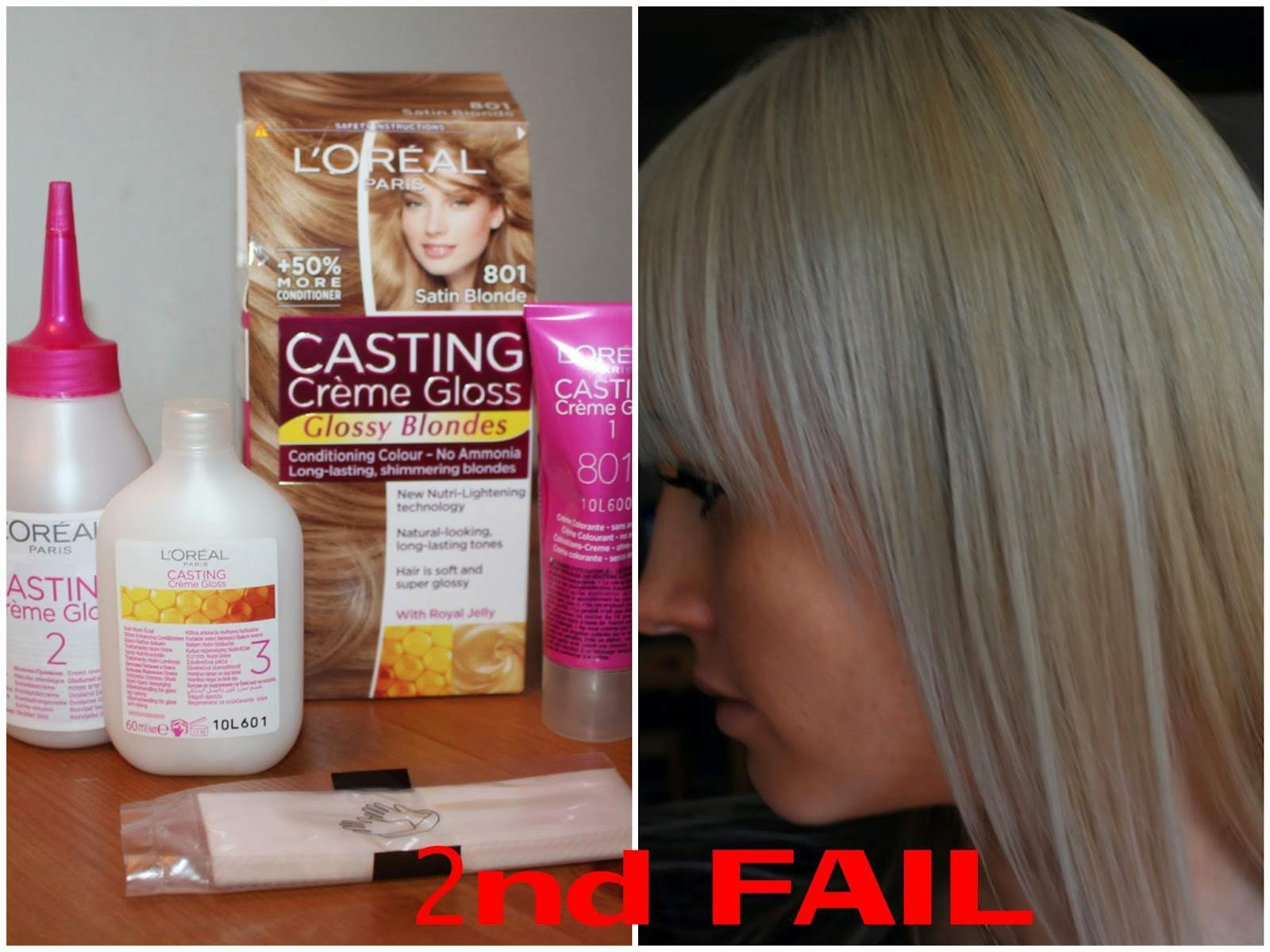 L'Oreal Extreme Platinum & L'Oreal Satin Blonde Review