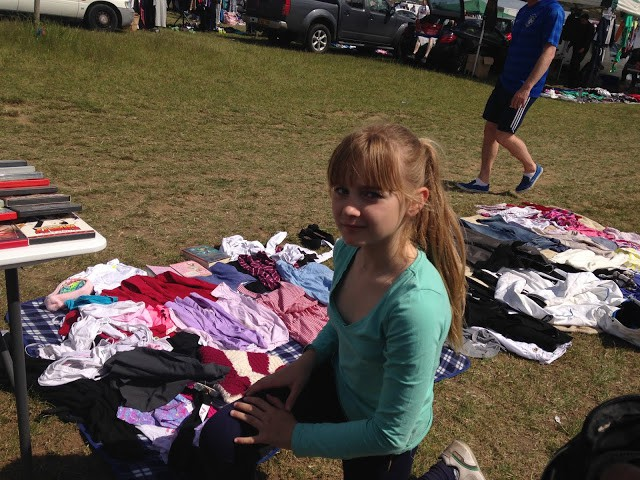 Selling at Dunton Car Boot Sale 2015