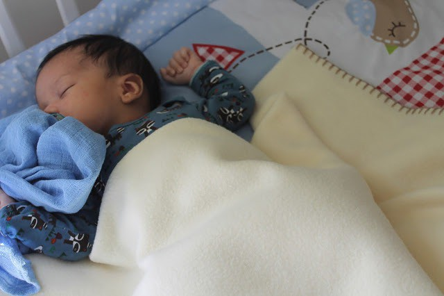 one month old baby boy